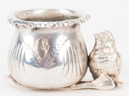 Silver Plated Figural Toothpick Holder
