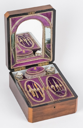 Outstanding Inlaid English Sewing Box