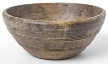 Early Turned Wooden Bowl