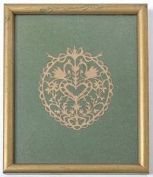 Early Cut-Paper Valentine