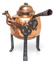 Arts & Crafts Footed Copper Kettle