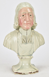 18th Century Staffordshire Bust of John Wesley
