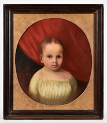 Folk Art Painting of a Child
