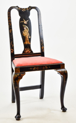 Queen Anne Side Chair with Japanese Decoration