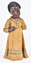 F. Goldscheider Pottery Figure of Young African American Girl
