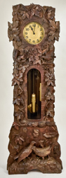 Outstanding Carved Black Forest Tall Case Clock