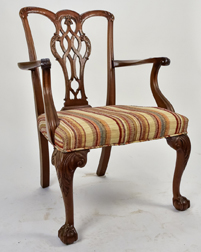 Chippendale Style Arm Chair