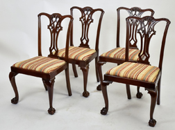 Four Chippendale Style Dinning Chairs