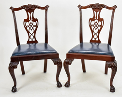Pair Chippendale Style Dinning Chairs