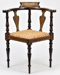 Child's Sheraton Inlaid Corner Chair
