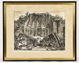 Giovanni Battista Piranesi Lithograph of Roman Ruins