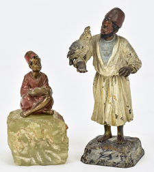 Two Cold Painted Austrian Bronze Figures