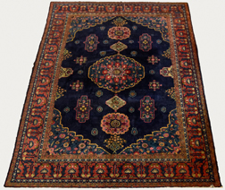 Semi-Antique Blue Persian Room Size Rug