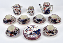 Gaudy Ironstone Child's Tea Set