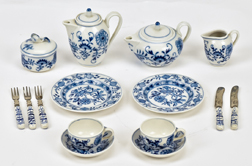 Meissen Blue Onion Child's Tea Set
