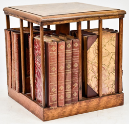 Desk Top Bookcase & Leather Bound Set