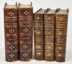 Two Sets of Fine Leather Bound Books