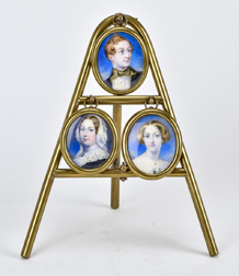 Miniatures of Queen Victoria & Children