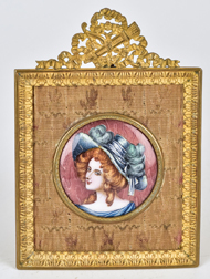French Enameled Portrait
