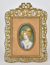 Miniature Portrait of a Young Lady