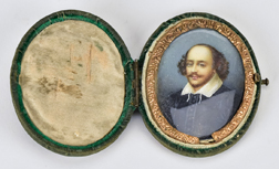 English Miniature Portrait of Wm. Shakespeare