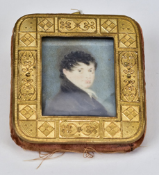 Folk Art Miniature Portrait
