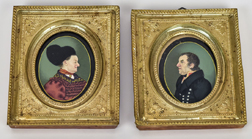 Pair of Russian Miniature Portraits