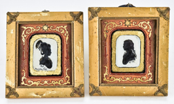 Pair of Russian Silhouettes Dated 1785