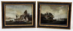 Pair Dutch Landscape Paintings