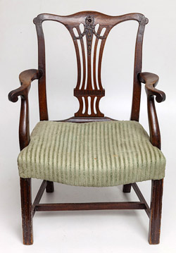 Mahogany Period Chippendale Arm Chair