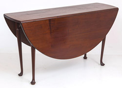 Mahogany Period Queen Anne Drop Leaf Table