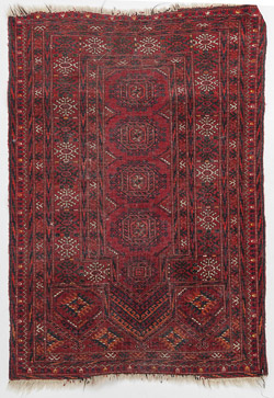 Semi-Antique Bokhara Oriental Prayer Rug