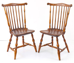 Pair of Period signed S.J. Tucker Windsor Chairs