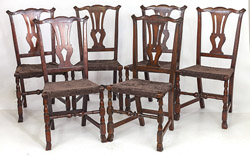 Set of Six Chippendale Style Chairs