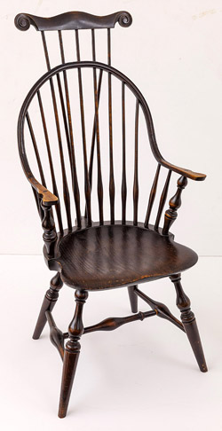 Wallace Nutting Brace & Comb Back Windsor Armchair