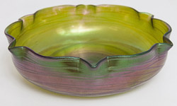 Loetz Art Glass Center Bowl