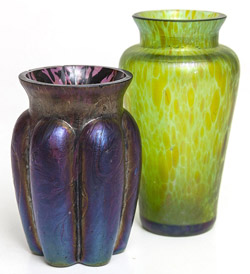 Two Loetz Miniature Vases