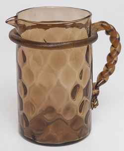 Bohemian Art Glass Pitcher