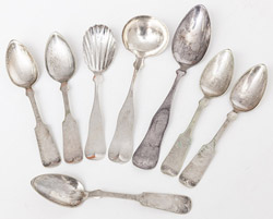 Early Coin Silver Spoons