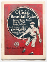 1923 Goldsmith BaseBall Rules Booklet
