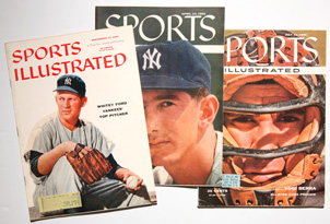 Three Sports Illustrated w/ Yankees Covers