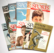 Ten 1950's Issues of Sports Illustrated