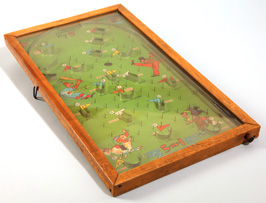 Circa 1940 Sports Themed Table Top Pinball Game