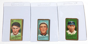 Three 1911 T205 Gold Border Tobacco Cards