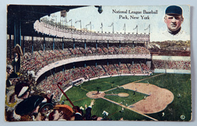 Early 1900's New York Baseball Park Postcard w/ McGraw
