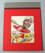 Original Cincinnati Reds Illustration Art - Vada Pinson