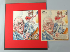 Original Cincinnati Reds Illustration Art - Joe Nuxhall