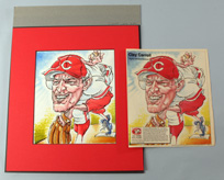 Original Cincinnati Reds Illustration Art - Clay Carroll