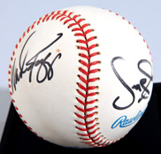 Daryl Strawberry & Wade Boggs Autographed Baseball