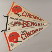 Three Early Cincinnati Bengals Pennants